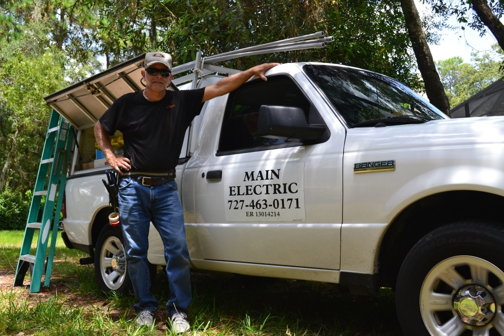 Joe Main, an electrician in Spring Hill, FL